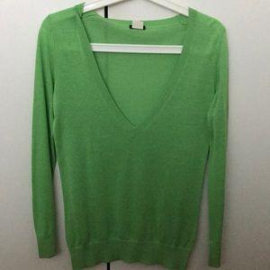 Bright Green J. Crew sweater